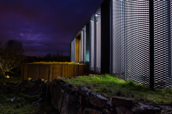 Grand Designs Patrick Bradley House at night iControl